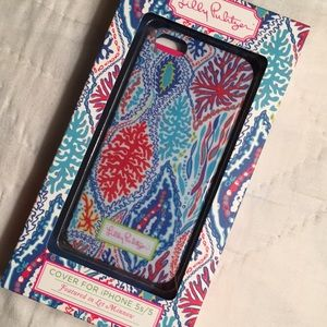 Lilly Pulitzer cover for IPhone 5S/5 let minnow